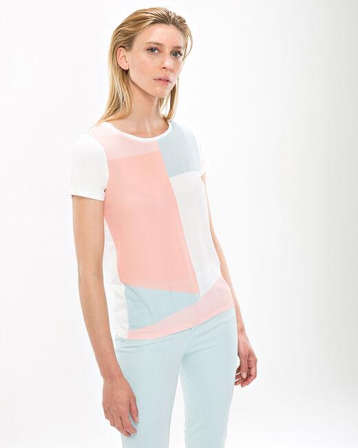 Tee-shirt pastel graphique Nano (2) - 1-2-3