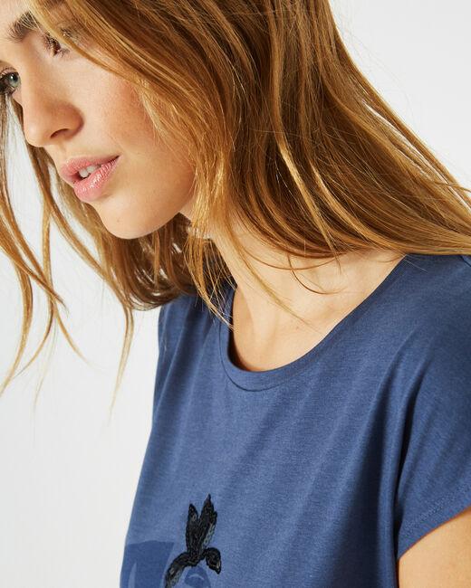Bambou royal blue printed T-shirt (2) - 1-2-3