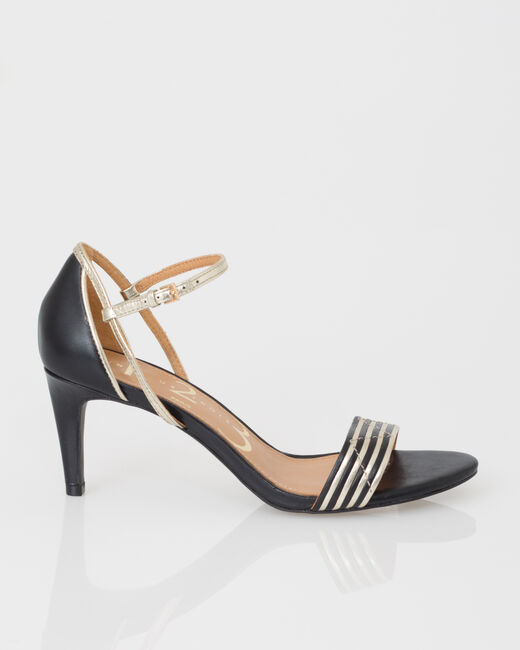 Joddie black open toe court shoes (1) - 1-2-3