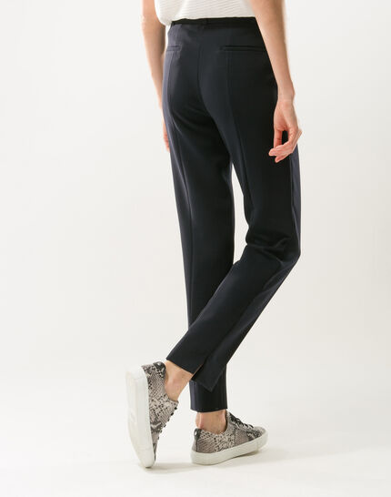 Pantalon de tailleur bleu marine slim Lara (4) - 1-2-3