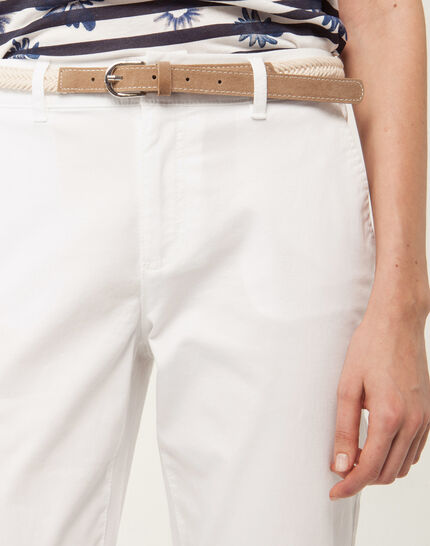 Francis white 7/8 length trousers (5) - 1-2-3