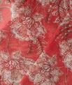 Selia raspberry printed scarf PhotoZ | 1-2-3