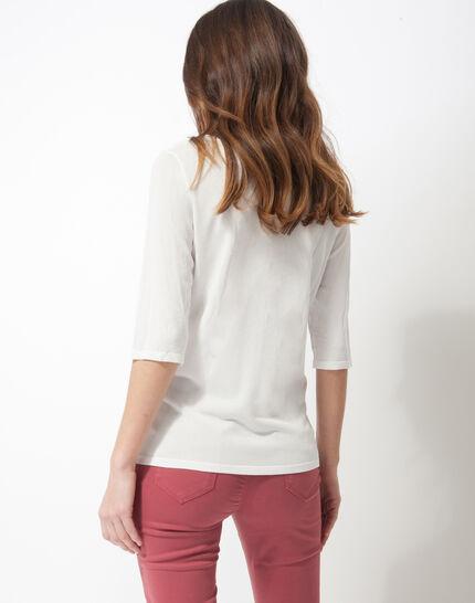 Honey V-neck ecru sweater (4) - 1-2-3