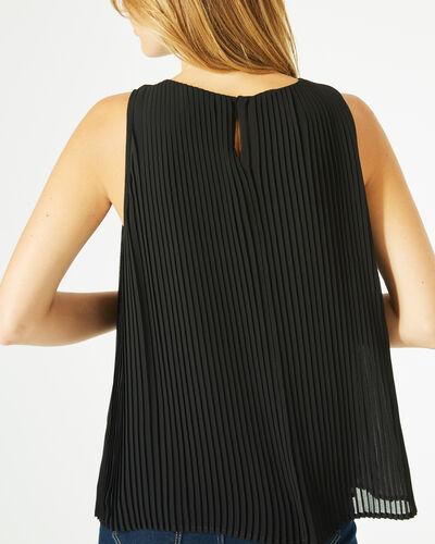 Top noir plisse Erica (2) - 1-2-3