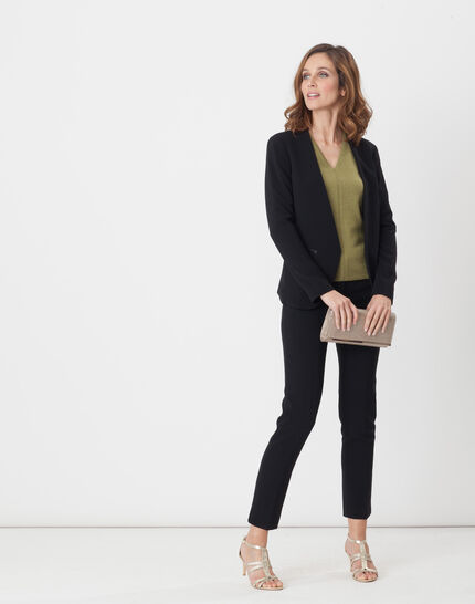 Maite black jacket with belt (2) - 1-2-3