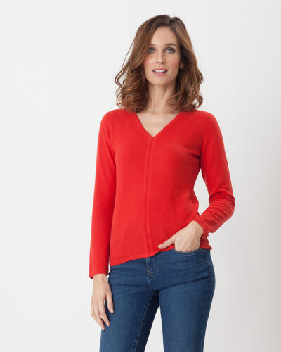 Cashmere sweater in geranium (1) - 1-2-3