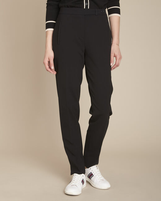 Lara slim-cut tailored black trousers (2) - 1-2-3