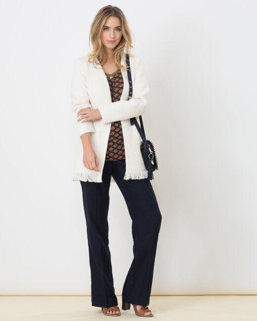 Manteau blanc avec franges Quamille (1) - 1-2-3