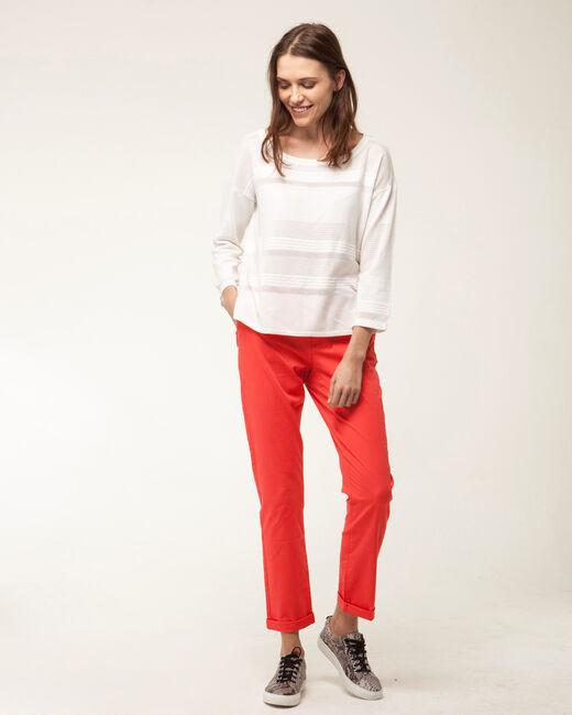 Francis orange 7/8 length trousers (1) - 1-2-3