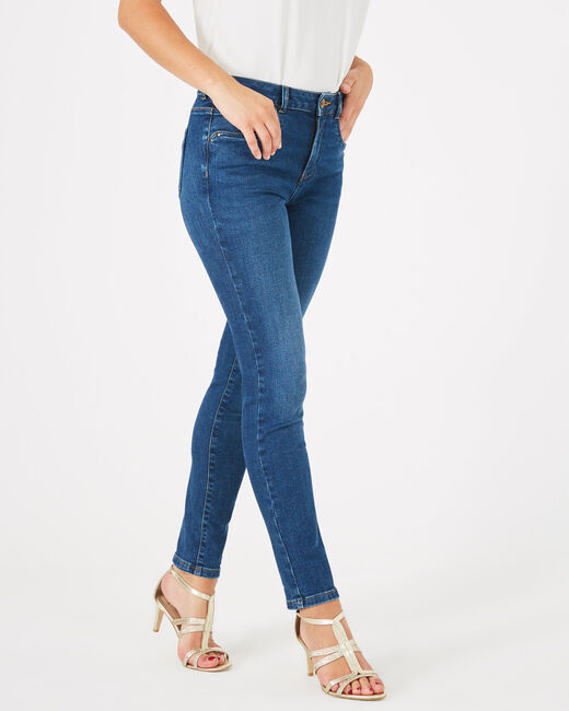 Indigoblaue 7/8-Washed-Jeans Oliver (2) - 1-2-3