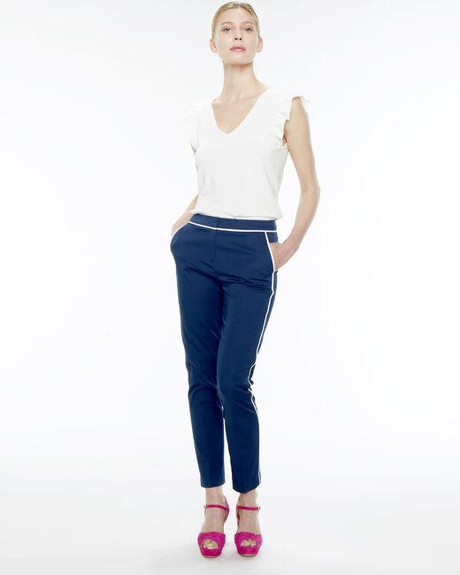 Rusty navy blue stripe trousers (1) - 1-2-3