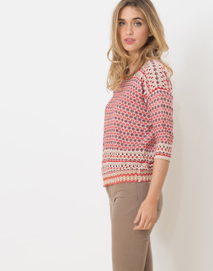 Hammam red printed sweater (3) - 1-2-3