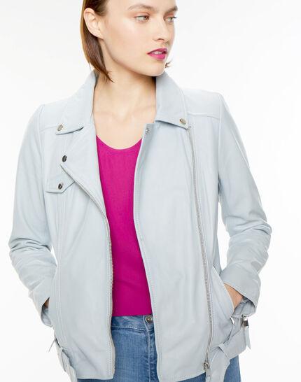 Gabriel blue biker-style leather jacket PhotoZ | 1-2-3