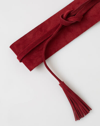 Yahan red velour tie belt (2) - 1-2-3
