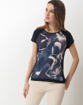 Narcisse blue printed t-shirt navy.