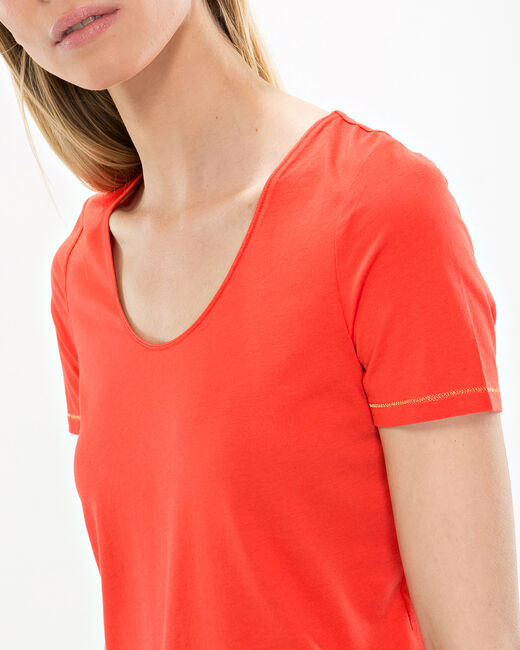 Tee-shirt orange Noon (1) - 1-2-3