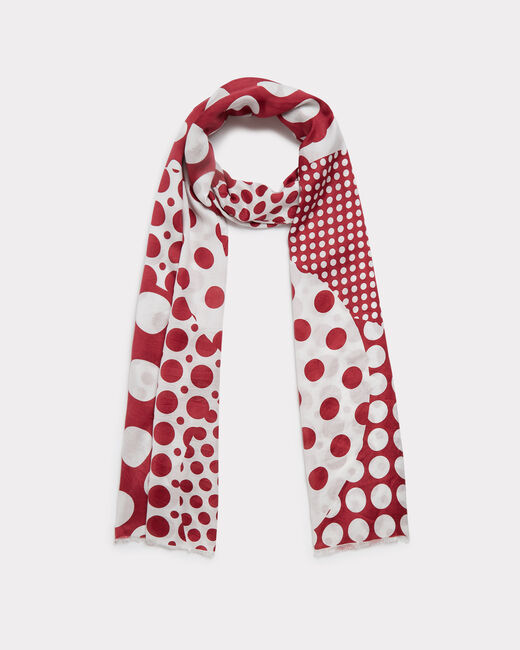 Evora polka dot silk scarf (2) - 1-2-3