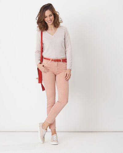 Oliver 7/8 length pale pink trousers (1) - 1-2-3