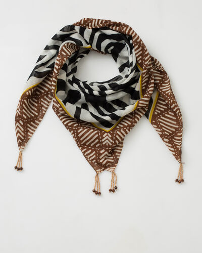 Sauvage animal print scarf in cotton (1) - 1-2-3