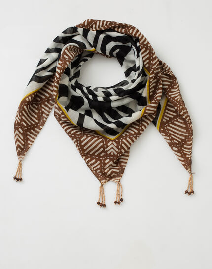 Sauvage animal print scarf in cotton (2) - 1-2-3