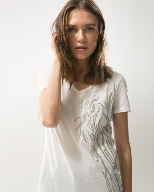 Tee-shirt écru brodé Nantua (2) - 1-2-3