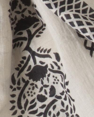 Foulard noir et blanc imprimé Sana (2) - 1-2-3