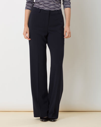 Pepin bis navy blue wide-cut trousers (2) - 1-2-3