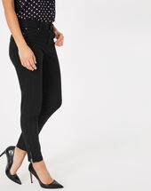 Pia black 7/8 length satin trousers black.