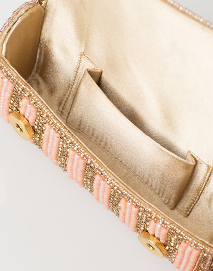 Paloma powder pink beaded clutch bag (3) - 1-2-3