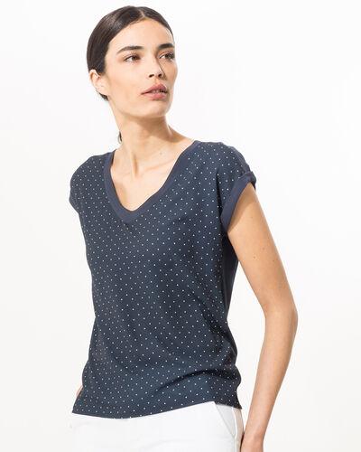 Tee-shirt bleu marine à pois Nolita (1) - 1-2-3
