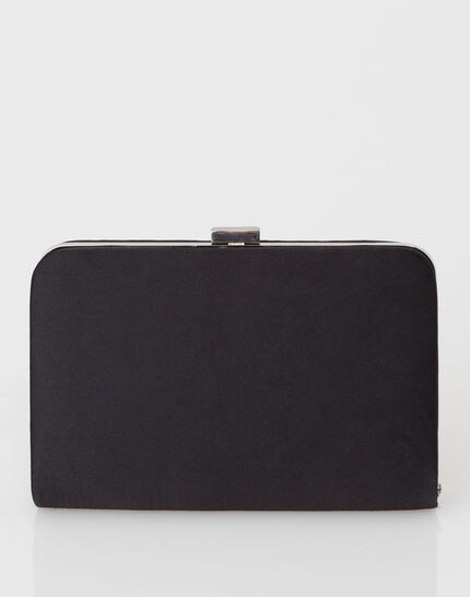 Pauline black clutch bag (3) - 1-2-3