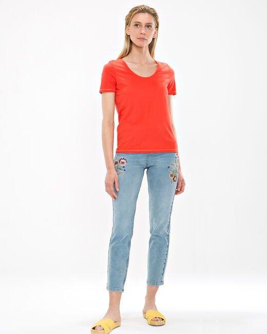 Tee-shirt orange Noon (2) - 1-2-3