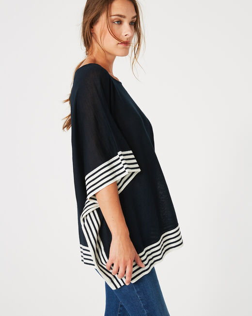 Paquebot navy blue cape (2) - 1-2-3