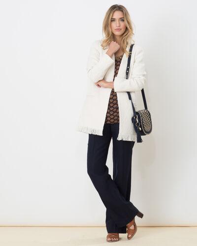Dolly wide-cut navy blue linen trousers (2) - 1-2-3