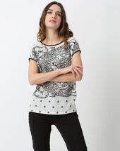 Nef printed t-shirt ecru.