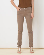 William taupe satin trousers dark taupe.