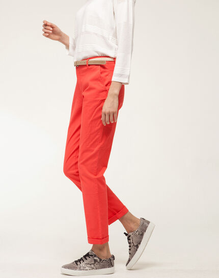 Francis orange 7/8 length trousers (3) - 1-2-3