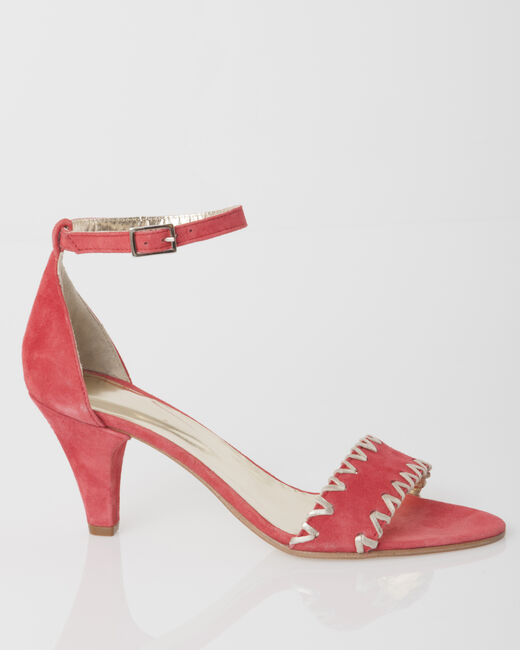 Joyce open toe coral court shoes (2) - 1-2-3