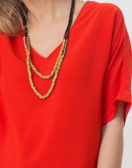 Ellen red shirt with necklace (5) - 1-2-3