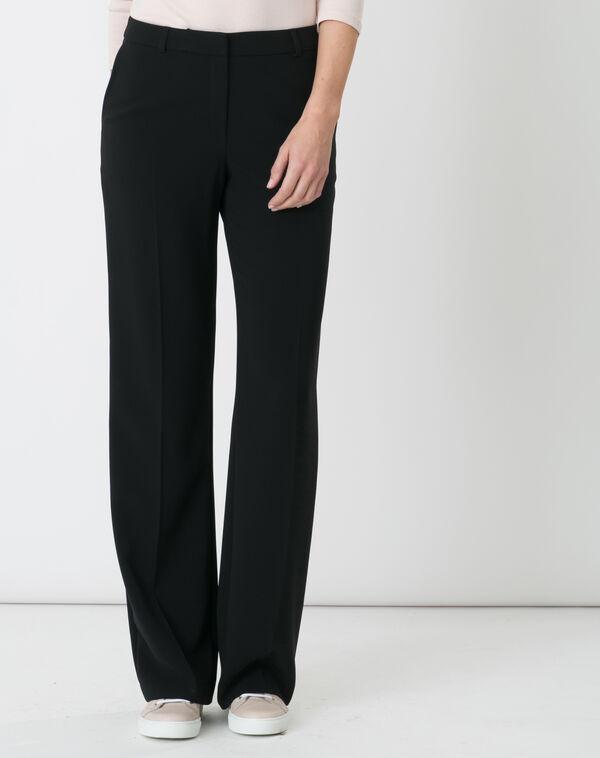 Pantalon de tailleur noir pepin à