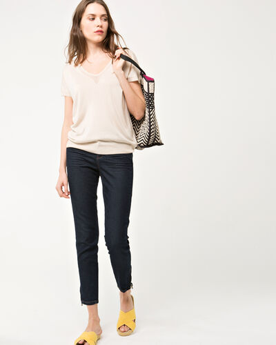 Pull beige manches courtes Hope (2) - 1-2-3