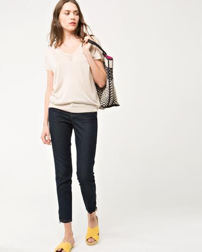 Hope beige short-sleeved sweater (2) - 1-2-3