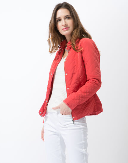 Olympe raspberry quilted parka (6) - 1-2-3