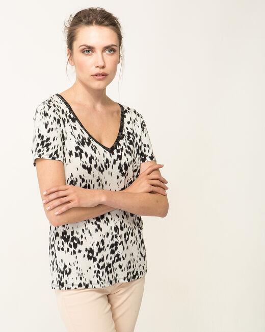 Tee-shirt noir et blanc imprimé Nyx (2) - 1-2-3