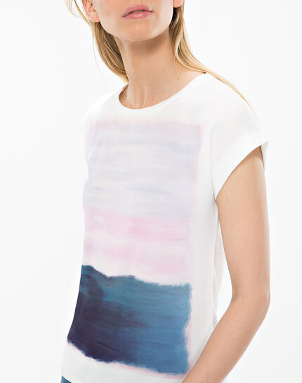 Nectar ecru printed T-shirt  (5) - 1-2-3