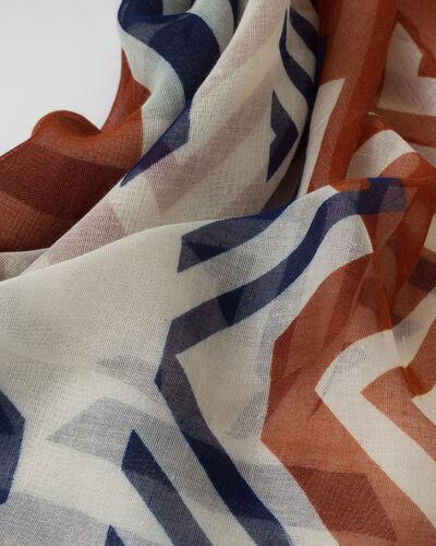 Samuel bronze printed scarf (2) - 1-2-3