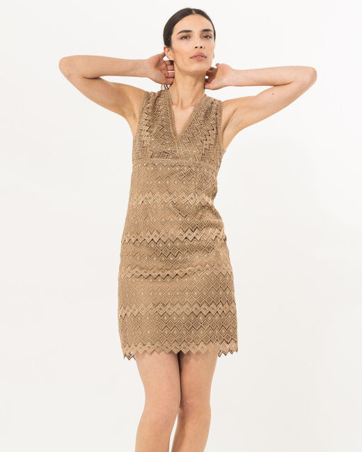 Fever gilt dress in Lurex lace  (2) - 1-2-3