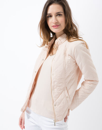 Olympe powder pink quilted parka (6) - 1-2-3