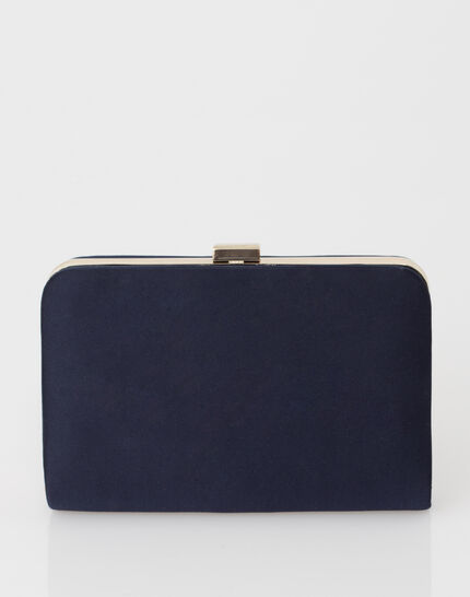 Pauline navy blue clutch bag (3) - 1-2-3