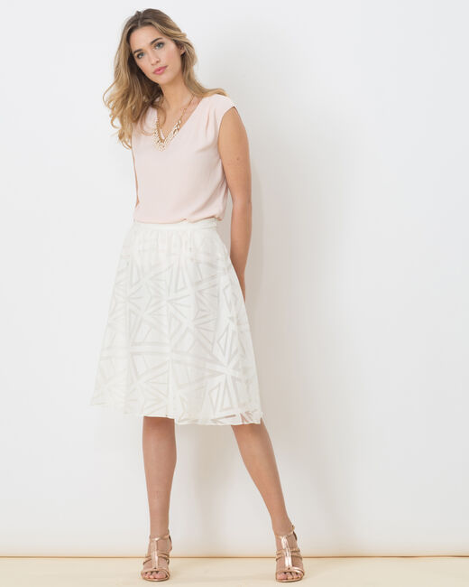 Délice graphic white skirt (1) - 1-2-3